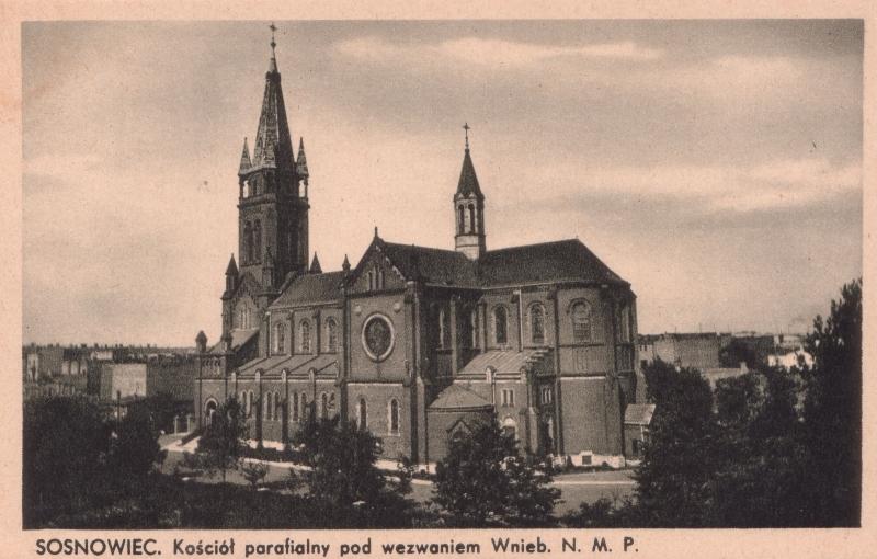 89 - Sosnowiec, Kościół parafialny Wniebowzięcia Najświętszej Maryi Panny