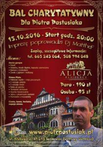 Plakat Bal Charytatywny dla Piotra Pastusiaka